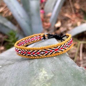 Jewelry - 2 for $10 ► Folk Art Mustard Boho Woven Bracelet